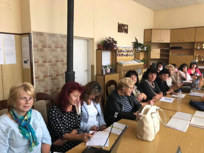 Training at Hristo Botev Primary School, Rakitovo on September 30, 2020