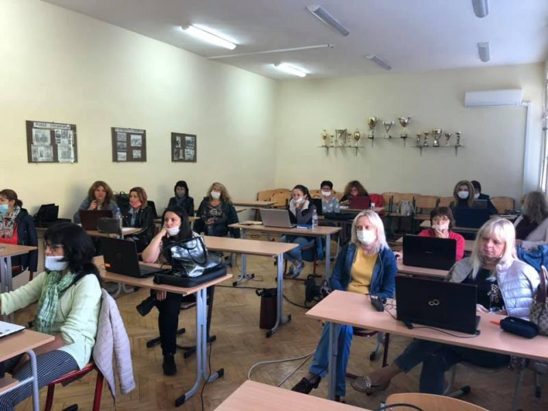 Training at Hristo Nikiforov Primary School, Lovech, on October 17, 2020